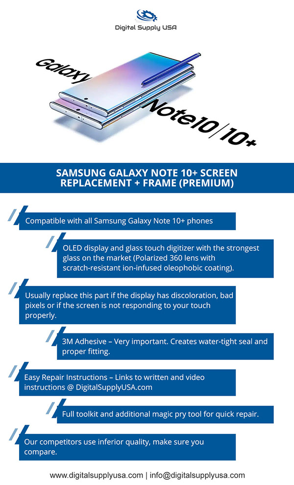 Samsung Galaxy Note 10+ Screen Replacement
