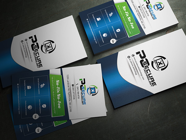 Business card for pc secure technology comapny on behance colourmoves