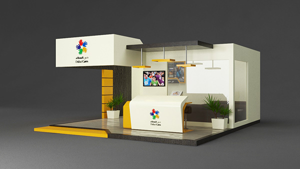D Exhibition Stall Designer Jobs In Dubai : Dubai cares exhibition stall design on student show