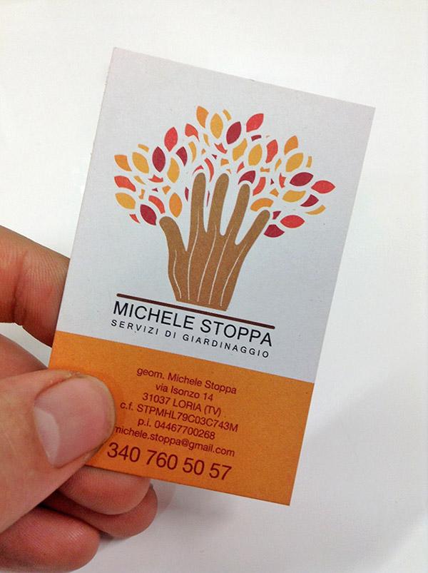 gardening business card leaflet