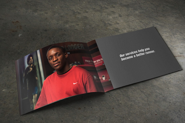 Nike running club brochure on behance for Nike brochure design
