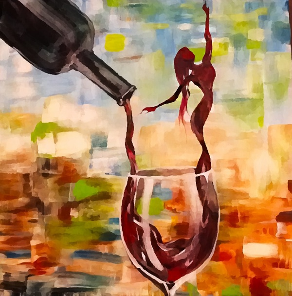 Wine woman on behance for Paint and wine temecula