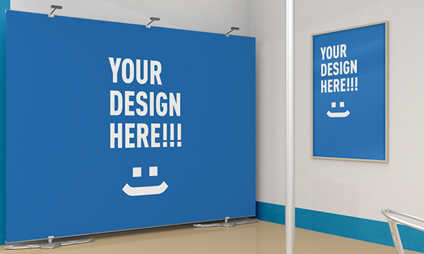Simple Exhibition Stand Mockup : Exhibition stand design mockup on behance