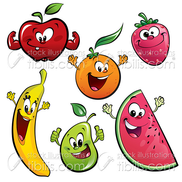 Cartoon fruit characters on Behance