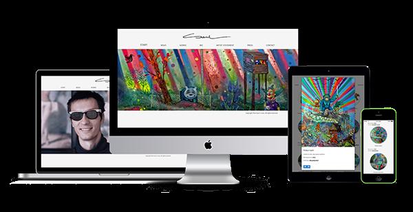 piotr saul artist painter portfolio wro saulik saul Website Responsive minimal White