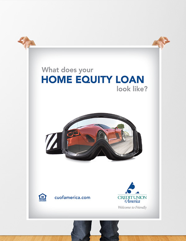 Posters for cua home equity loan campaign on behance for Mirror of equity
