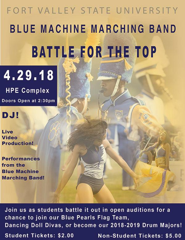 FVSU Blue Machine Marching Band Advertisement  on Student Show