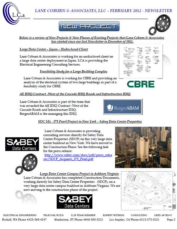 LCA Newsletter - February 2012 on Behance