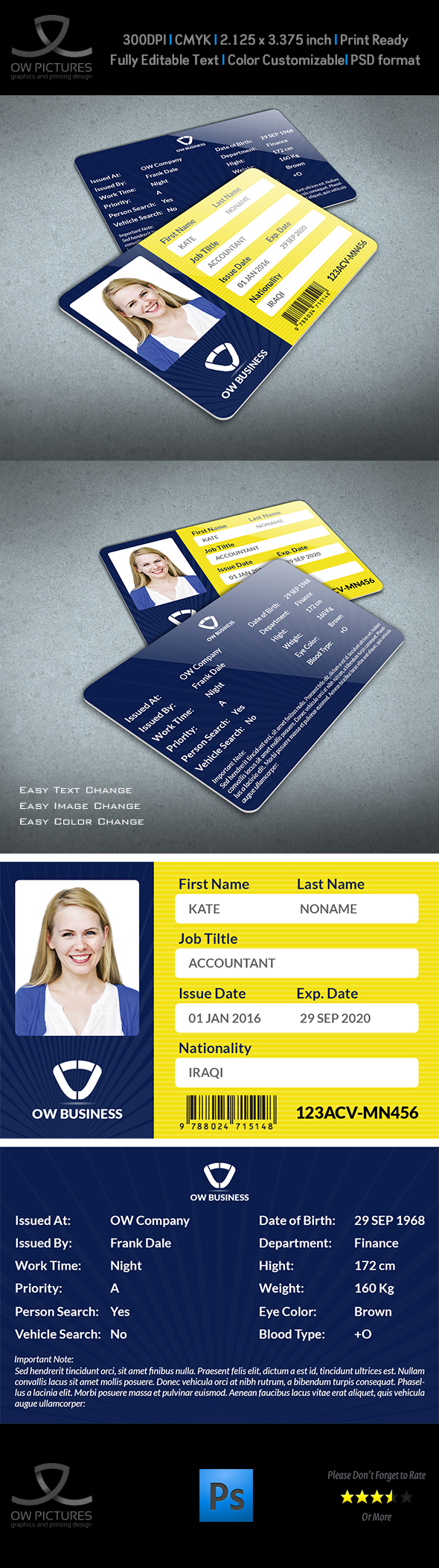 Multipurpose business id card template vol2 on behance fbccfo Images