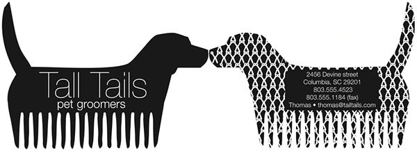 pet groomers identity logo pattern groomer Pet animal dog Stationery S.C. south carolina Neutral usc black and white black White monochrome Labrador paper craft concept University of South carolina