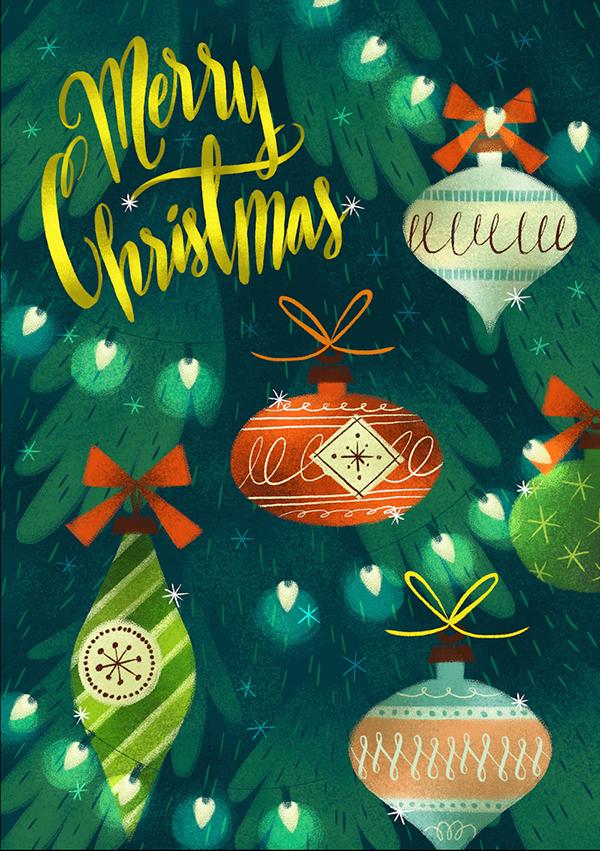 精細的34款聖誕卡片設計欣賞