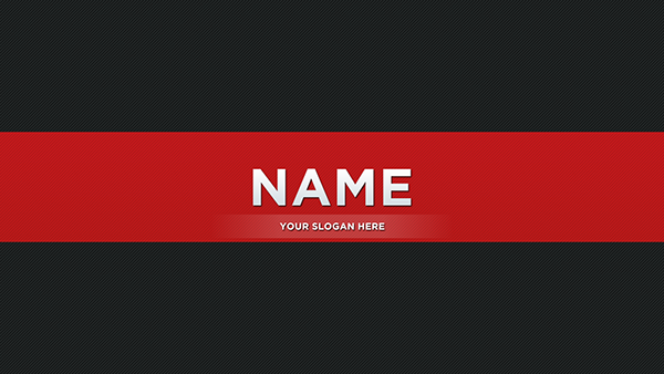 Red Youtube Banner on Behance