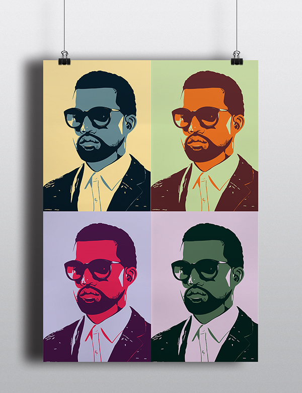 Kanye West Greatest Hits Pop Art Poster Collection on Behance