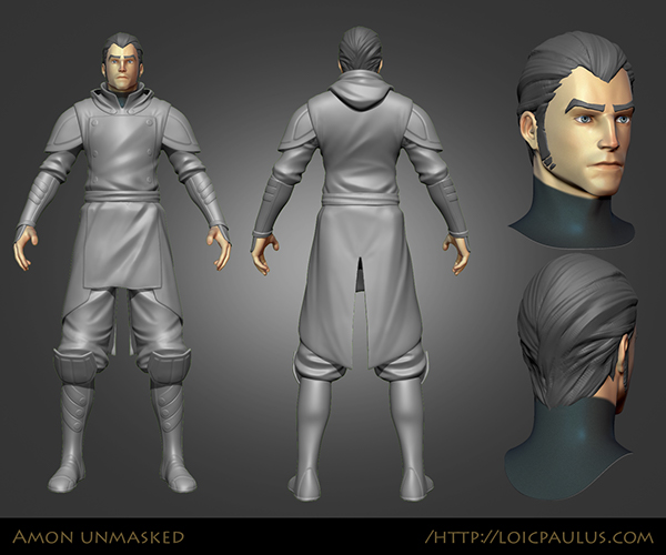 Amon Unmasked Video Game Character On Behance