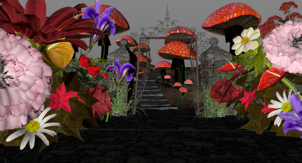 alice in wonderland Landscape cinema 4d autodesk maya