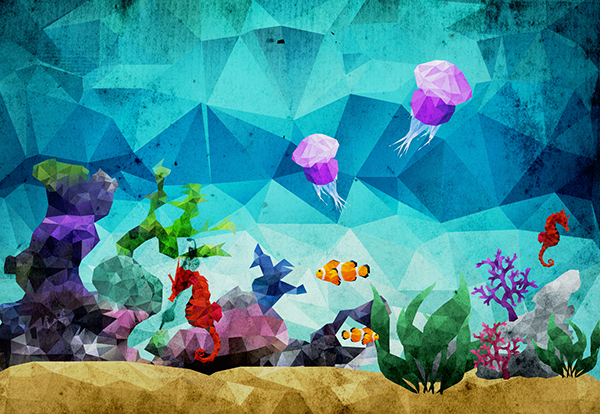 Underwater Low Poly Art 3 On Behance