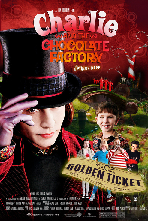 Charlie and the Chocolate Factory movie posterCharlie And The Chocolate Factory Movie Poster