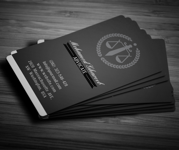 creative lawyer business card  4 on pantone canvas gallery