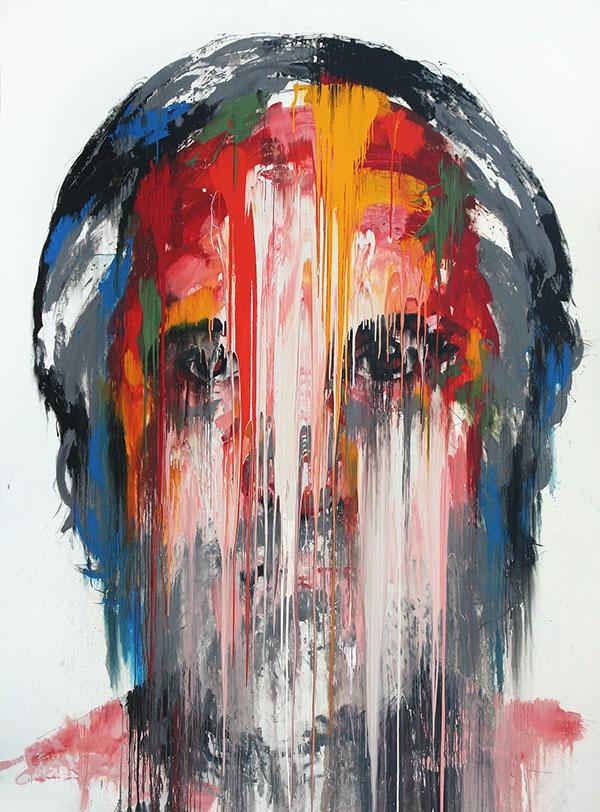 KwangHo Shin, senza titolo, olio su tela, 373 x 280 cm, 2013