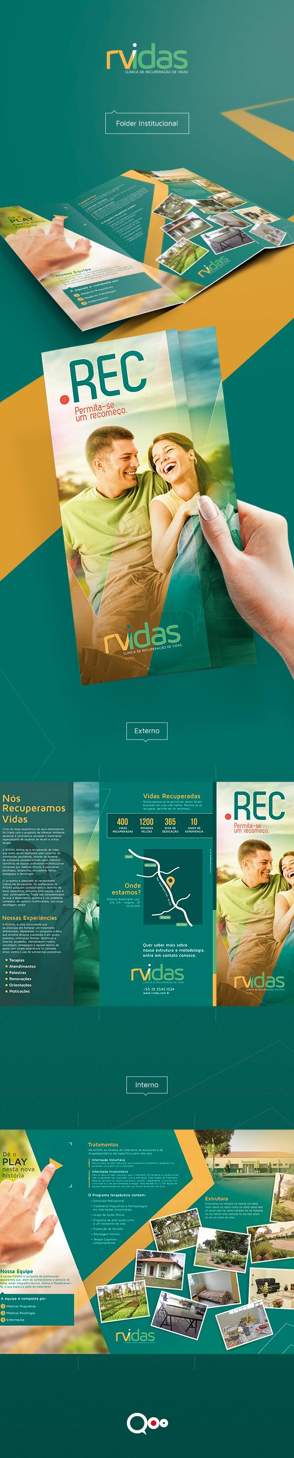 design folder institucional instutional RVidas clinica recuperação