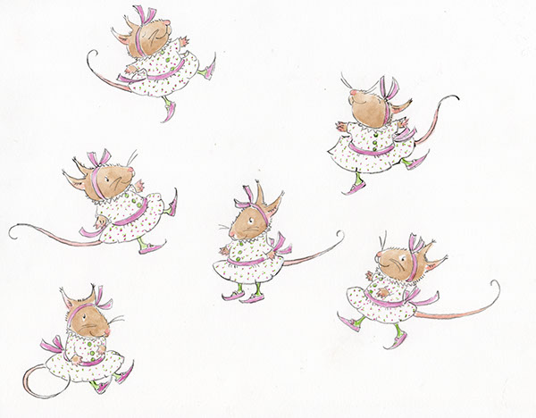 mice characters on risd portfolios