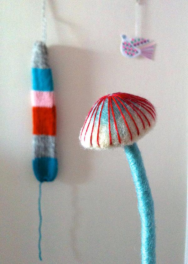 Needle-felted Mushrooms on Behance