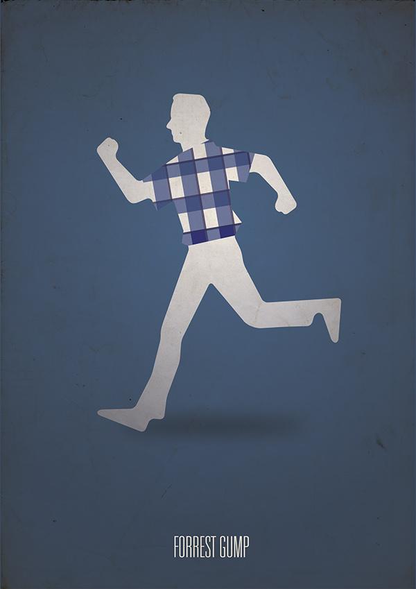 Forrest gump minimalist poster on behance for Define minimalist design