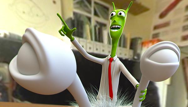 alien slug cartoon Character Zbrush CG 3D