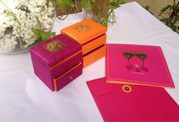 Wedding Gift Boxes Lahore : Neha Kapur, Kunal Nayyar- Wedding Card on Behance
