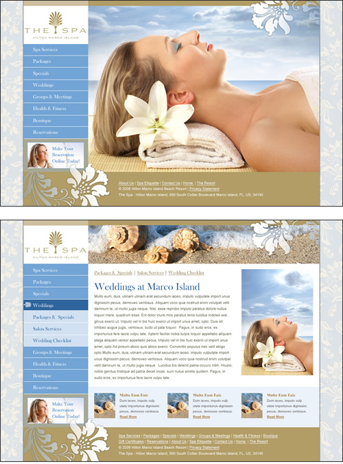 industry  spa  Hotels interface design web graphics HTML css