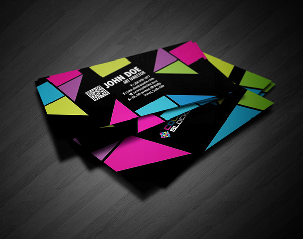 Color blocked business card design on behance reheart Images