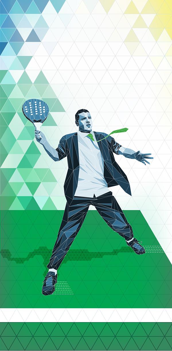 Logotipo y cartel para torneo de padel entre abogados by Claudia Arregoitía