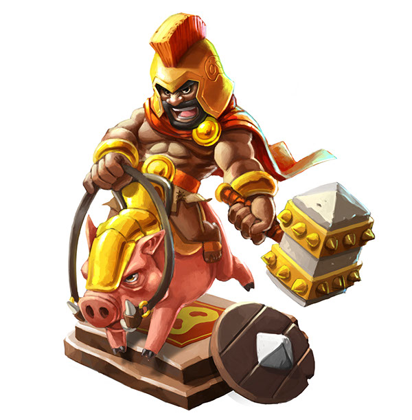 Clash Of Clans Characters Idea On Wacom Gallery