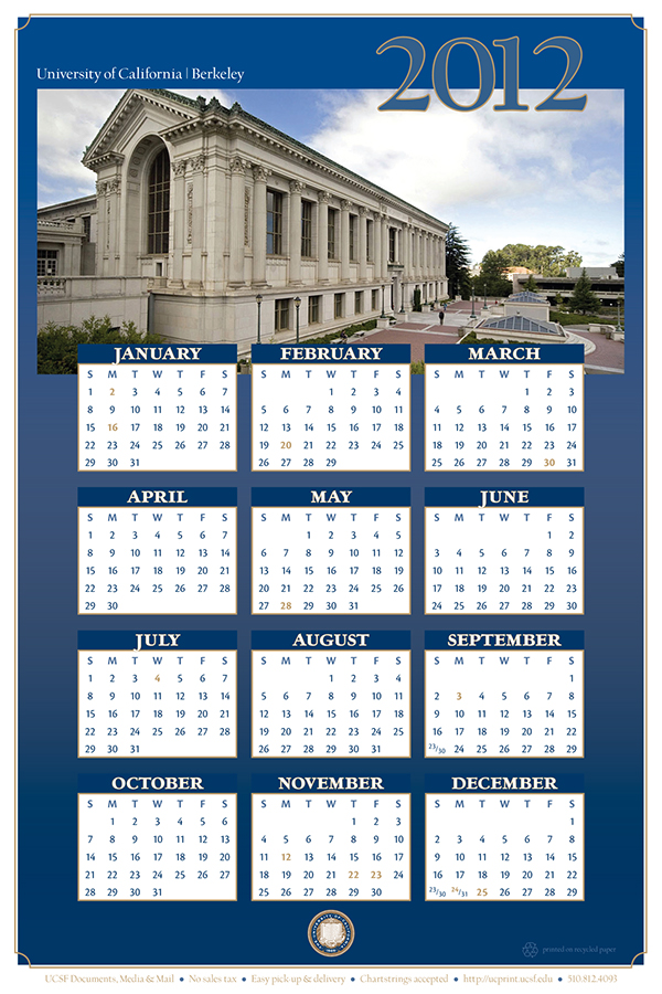 2012 Calendar Campus Life Services Ucsf On Behance