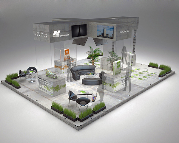 Exhibition Stand Designer Job Description : Exhibition stand design for quot norm cement on behance