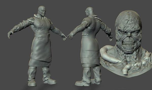 Lowpoly Nemesis Resident Evil Fanart On Behance