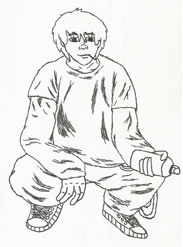graffiti artist character designs on ccs portfolios