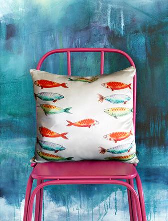Image may contain: red, furniture and handbag