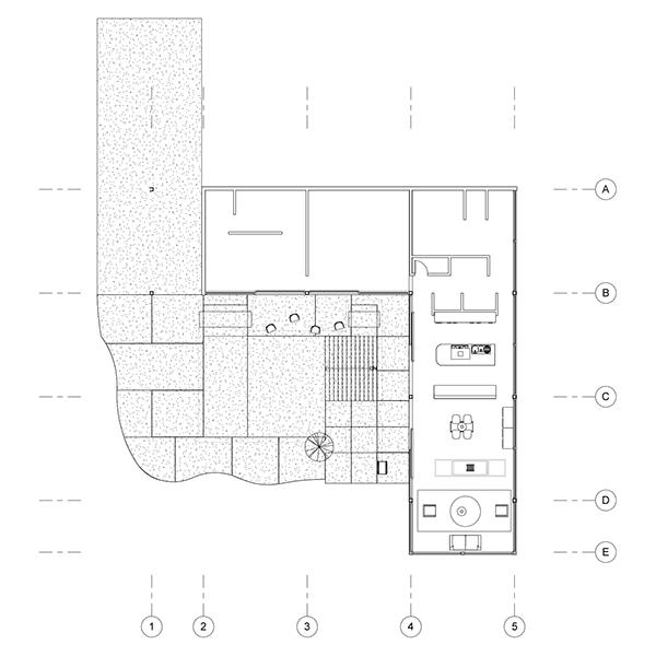 Stahl house revit case study advanced visualization on for Case study houses floor plans
