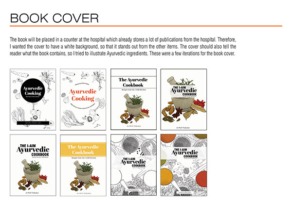 Book Cover Layout Bangalore : The ayurvedic cookbook on student show