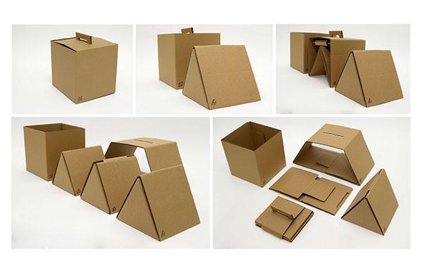 poster pamphlet cardboard furniture children pattern layering shapes geometric colour 3D