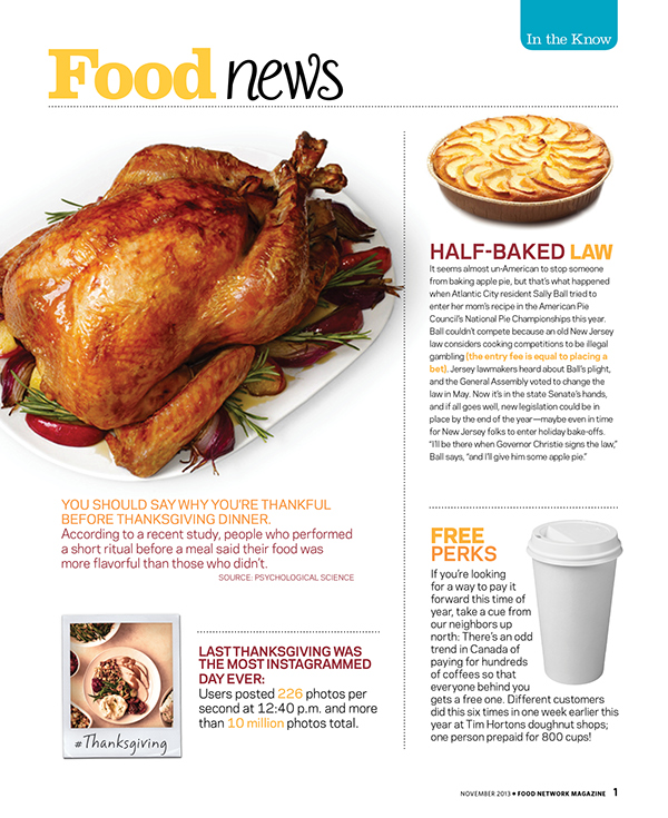 Food network magazine layouts on behance the layouts below were designed for food network magazine as a design test content was given and some photos the task was to create three layouts that fit forumfinder Image collections