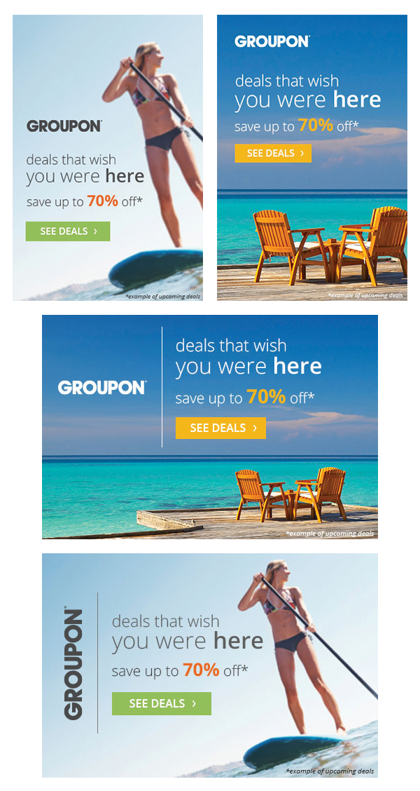 Groupon Banner Ads On Behance