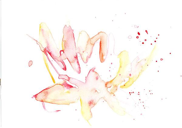 pattern textile print watercolour sketch flower screenprint silkscreen stencil