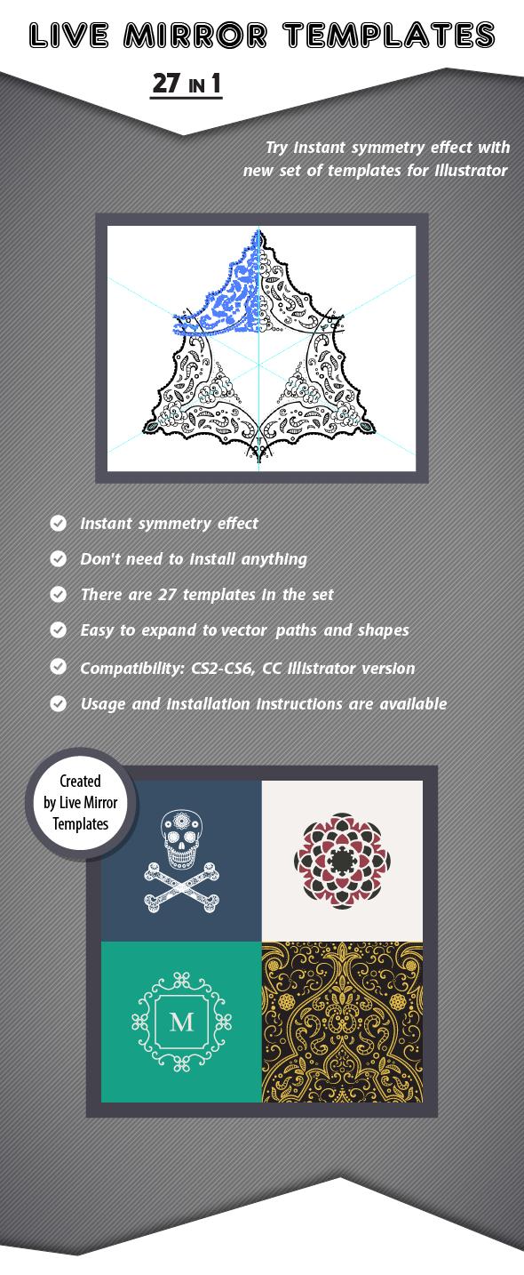 live mirror illustrator templates bundle on behance