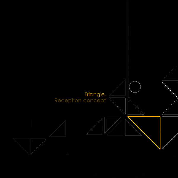 Triangle reception concept of the architectural studio on for Triangle concept architecture