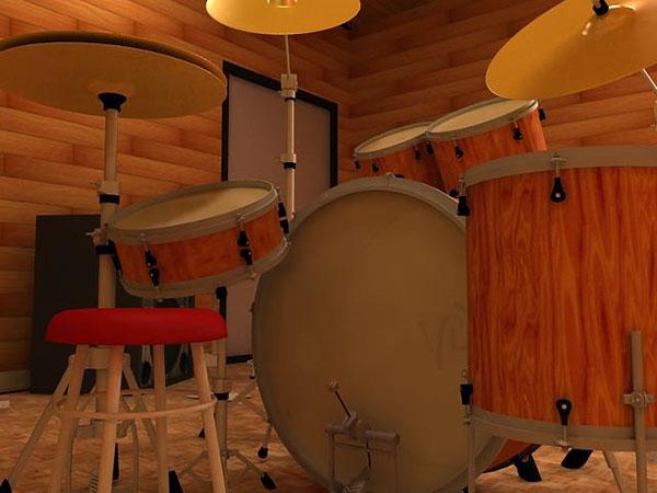 3D Drum set design on Behance