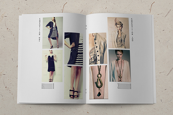 minimalistic fashion catalog template on behance. Black Bedroom Furniture Sets. Home Design Ideas
