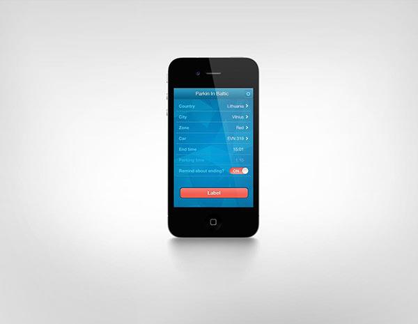 UI ux app application ios iphone android htc Park parking Baltic Baltics