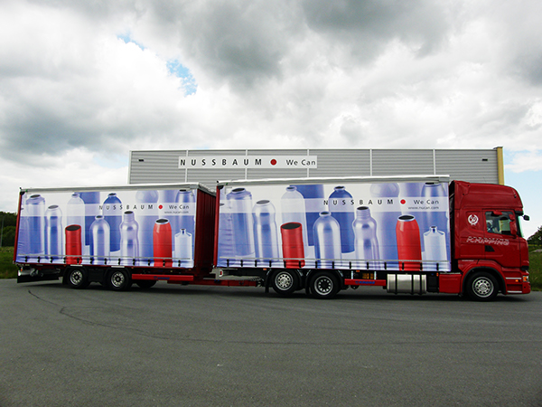 Truck company tarpaulin canvas